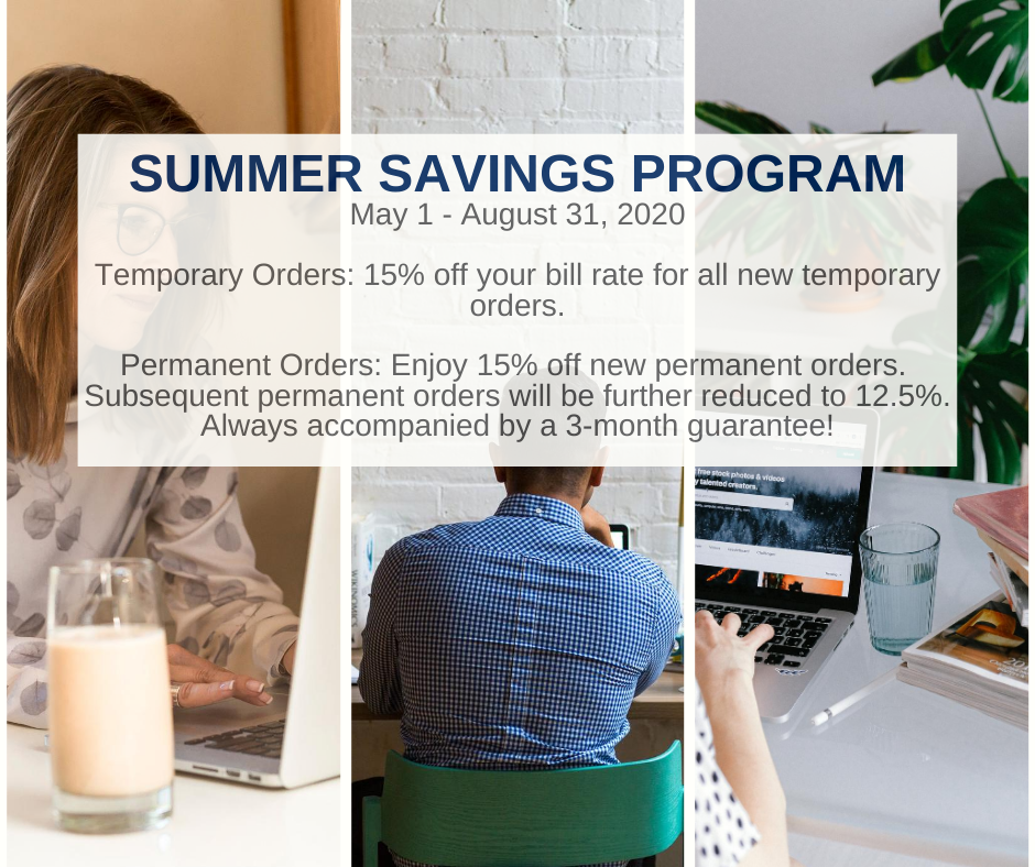 Click here to learn more about our Summer Savings Discount!